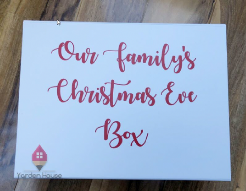 White A4 folding Christmas Eve Box ...Red Vinyl
